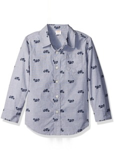 Gymboree Big Boys' Plaid Poplin Shirt  XS