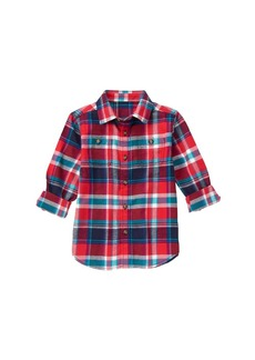 Gymboree Big Boys' Red Plaid Woven Shirt Multi S