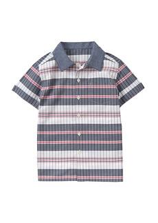 Gymboree Boys' Big Striped Woven Shirt Multi L
