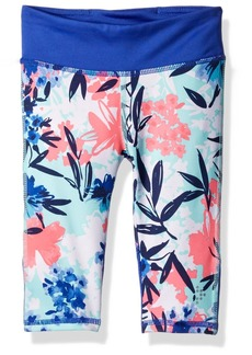 Gymboree Big Girls' Floral Cropped Active Legging  XXS