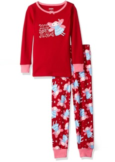 Gymboree Big Girls Graphic Tight-Fit Pajamas - size