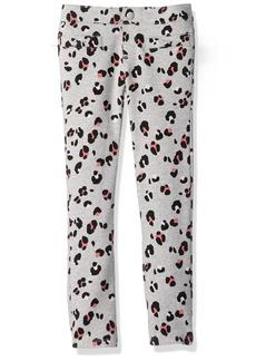 Gymboree Big Girls' Grey Leopard Ponte Pant