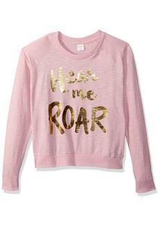 Gymboree Big Girls' Long Sleeve Crew Neck Raglan Sweater  L