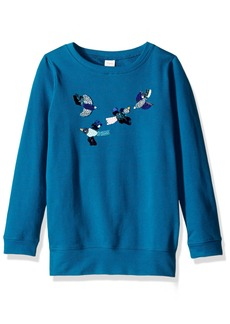 Gymboree Big Girls' Long Sleeve Turquoise Bird Tunic  S
