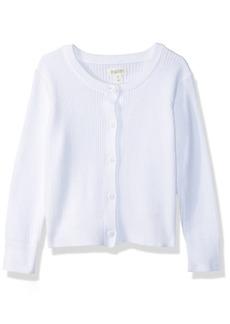 Gymboree Big Girls' Long Sleeve Uniform Ribbed Cardigan  L