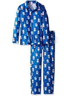 Gymboree Big Girls' Patterned Two-Piece Fire-Resistant Pajamas  XS
