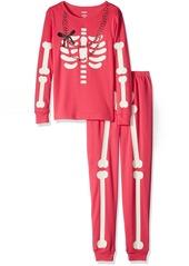 Gymboree Big Girls' Pink Skeleton Pajamas