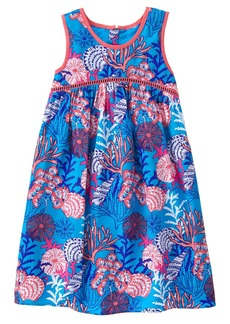 Gymboree Big Girls' Short Sleeve Sea Print Dress Multi