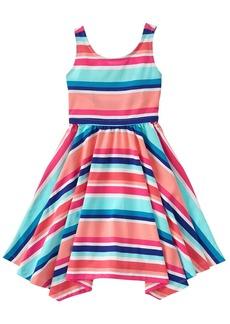 Gymboree Big Girls' Short Sleeve Stripe Print Dress Multi