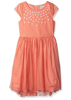 Gymboree Big Girls' Tulle Dress with Sequin Multi