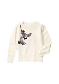 Gymboree Girls' Big White Sweater  M