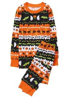 Gymboree Boys' 2 Piece Cotton Tight-fit Pajamas Orange FAIRAISLE