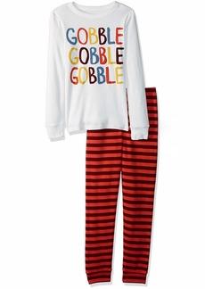 Gymboree Boys' Big 2-Piece Tight Fit Sleeve Long Bottoms Pajama Set Gobble