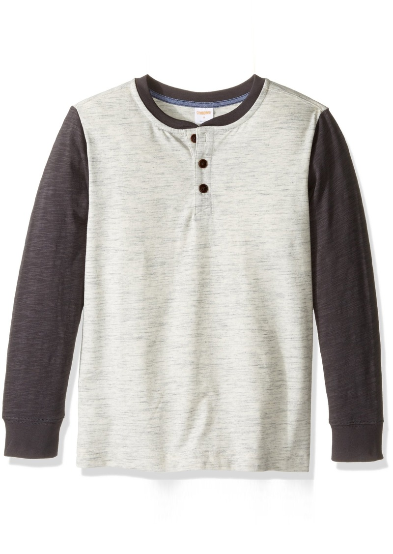 Gymboree Boys' Big Boys' Long Sleeve Heathered Henley