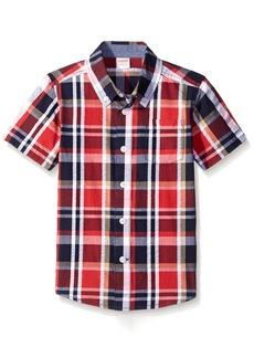 Gymboree Big Boys' Plaid Shirt Multi