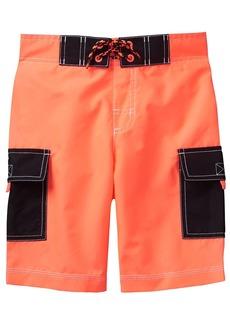 Gymboree Boys' Little Cargo Swim Trunks neon Orange XS