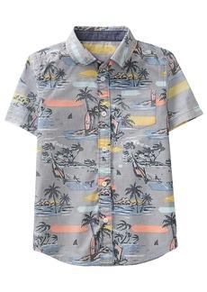 Gymboree Boys' Little Short Sleeve Button Down Woven Shirt  S