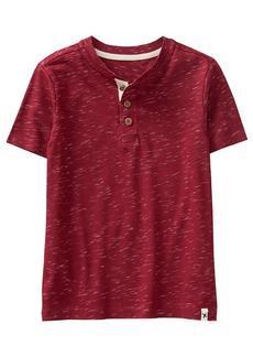Gymboree Boys' Little Short Sleeve Henley Shirt Brick red XS