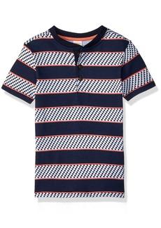 Gymboree Boys' Little Short Sleeve Henley Top  XS