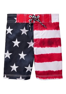 Gymboree Boys' Little Swim Trunks True red Stripe S