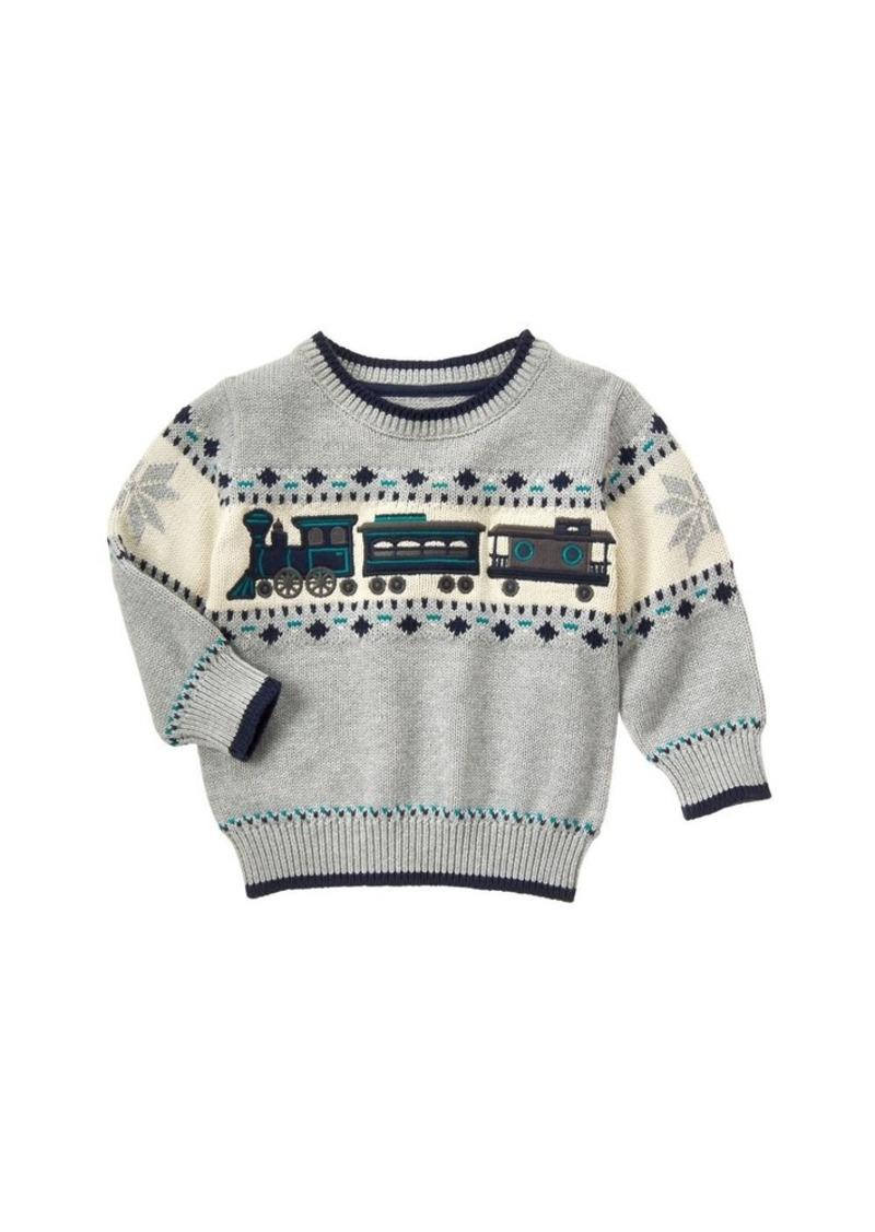 Gymboree Boys' Toddler Boys' Train Sweater