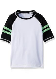 Gymboree Boys' Toddler Short Sleeve Printed Rashguard