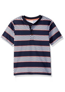 Gymboree Boys' Toddler Short Sleeve Tribal Print Polo Shirt
