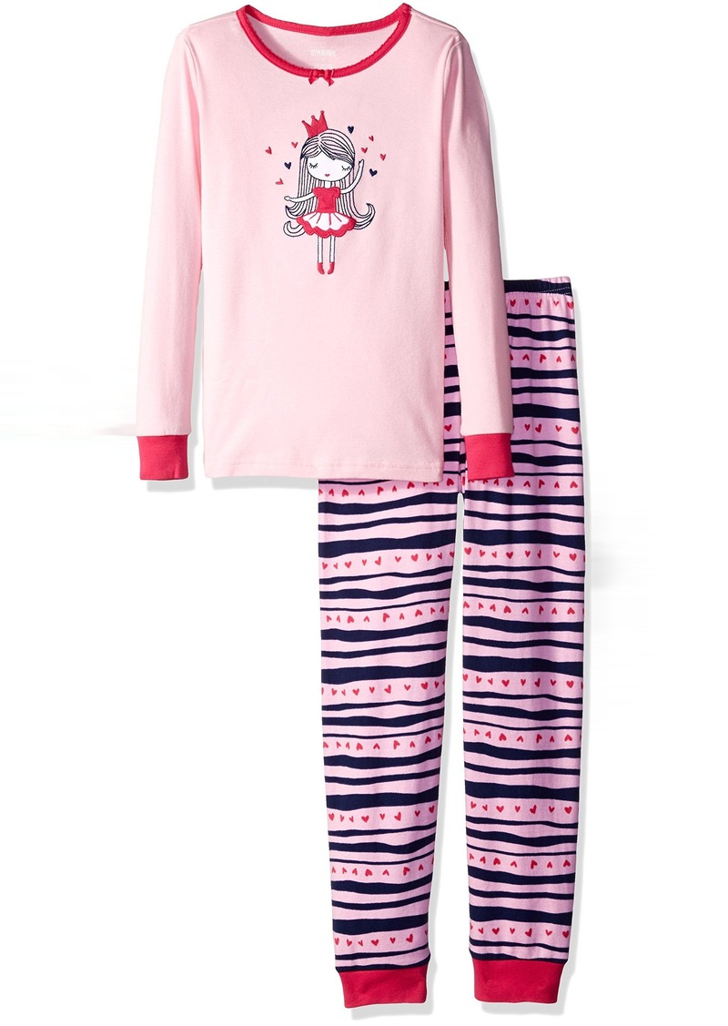Gymboree Girls' Big Girls' Cat Graphic Tight-Fit Pajamas