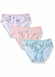 Gymboree Girls' Little 3-Pack Cotton Blend Underwear Unicorn Dog Coral XXS