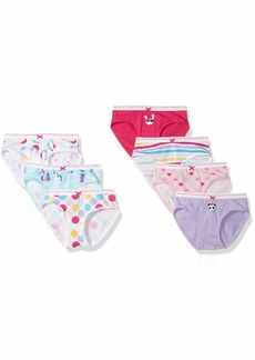 Gymboree Girls' Little 7-Pack Cotton Blend Underwear  S