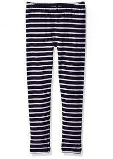 Gymboree Girls' Little Basic Stripe Legging Navy M