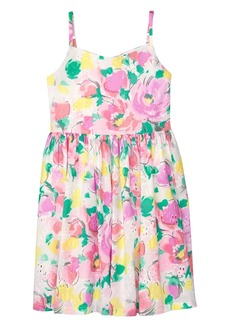 Gymboree Girls' Little Floral Strappy Dress Watercolor