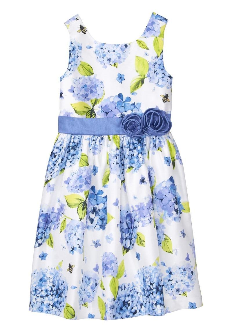 91603203a Gymboree Gymboree Girls' Little Sleveless Floral Print Dress Now $40.90