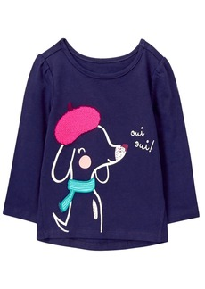 Gymboree Girls' Toddler Easy Li'l Long Sleeve Graphic Tee