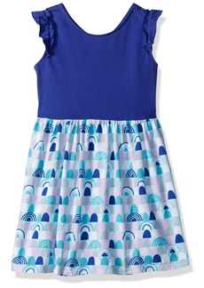 Gymboree Girls' Toddler Two-Tone Printed Knit Dress