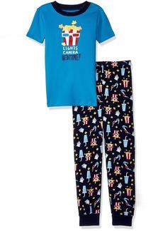 Gymboree Boys' Little 2-Piece Tight FIT Short Sleeve Pajama Set