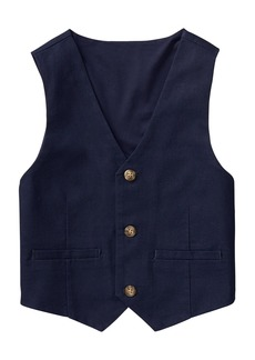 Gymboree Boys' Little 3-Button Linen Vest  XL