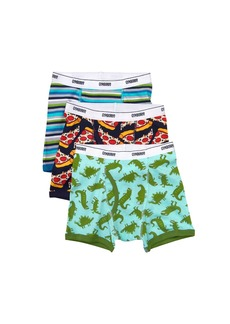 Gymboree Little Boys' 3-Pack Cotton Blend Boxer Briefs Dino  M