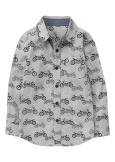 Gymboree Little Boys' Button up Shirt Grey S
