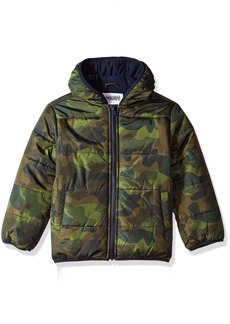 Gymboree Boys' Little Camo Puffer Jacket Olive L