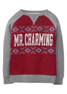 Gymboree Boys' Little Charming Pullover Sweatshirt  XS