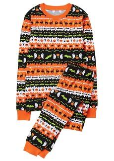 Gymboree Boys' Little Dad's Tight Fit Fairaisle Halloween Sleepwear  L