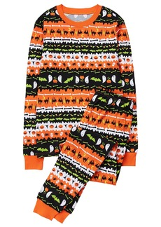 Gymboree Little Boys' Dad's Tight Fit Fairaisle Halloween Sleepwear  M