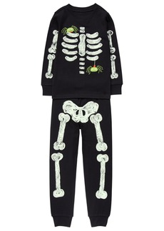 Gymboree Little Boys' Glow-in-The-Dark Graphic Tight-Fit Pajamas
