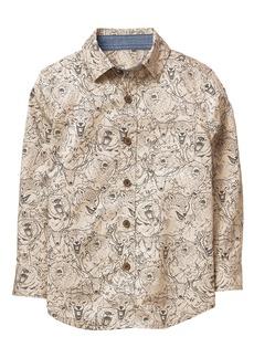 Gymboree Boys' Little Long Sleeve Button Up Shirt  XS