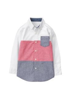 Gymboree Little Boys' His Long Sleeve Button up Shirt  XS