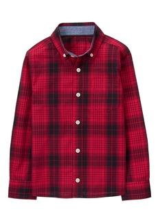 Gymboree Little Boys' Long Sleeve Button up Shirt  XS