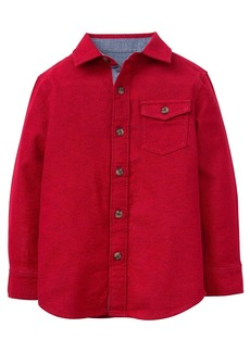Gymboree Boys' Little Long Sleeve Flannel Shirt red L