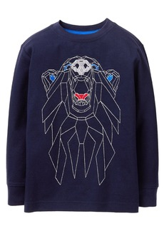 Gymboree Boys Little Long Sleeve Geo Bear Pullover