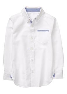 Gymboree Boys' Little Long Sleeve Linen Shirt  L